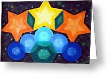 Circles And Stars Greeting Card