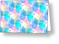 Circles In Pastel Greeting Card