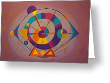 Circles In Space Greeting Card