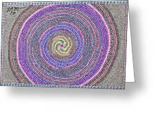 Circles Of Circles In Circles Greeting Card