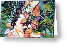 Circling Leaves Greeting Card