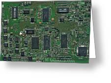 Circuit Board I Greeting Card by David Paul Murray