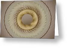 Circular Abastract Art 5 Greeting Card