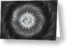 Circular Abstract Art 7 Greeting Card
