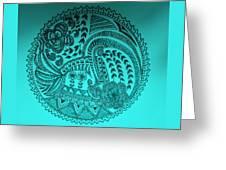 Circular Art Greeting Card