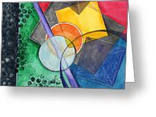 Circular Confusion Greeting Card