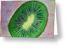Circular Food - Kiwi Greeting Card
