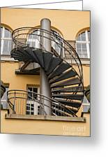 Circular Staircase Greeting Card