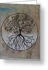 Circular Tree Of Life  Greeting Card