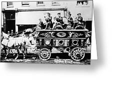 Circus Bandwagon, 1900 Greeting Card