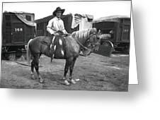 Circus Cowboy On Horse Greeting Card