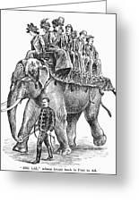 Circus: Elephant, C1901 Greeting Card