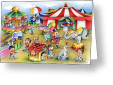 Circus In Town Greeting Card