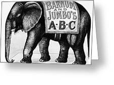 Circus: Jumbo, C1882 Greeting Card