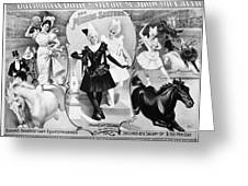 Circus Poster, 1895 Greeting Card