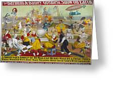 Circus Poster, 1903 Greeting Card