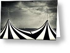 Circus With Distant Ships Greeting Card by Silvia Ganora