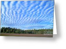 Cirrocumulus Clouds Over Mt. Mclaughlin Greeting Card