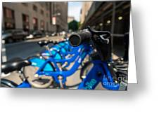 Citibike Handle Manhattan Color Greeting Card