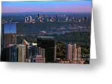 Cities Of Atlanta Greeting Card