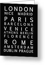 Cities Of Europe Greeting Card
