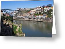Cities Of Porto And Gaia In Portugal Greeting Card
