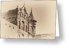 Citizens Bank Sepia Greeting Card