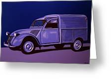 Citroen 2cv Azu 1957 Painting Greeting Card