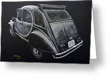 Citroen 2cv Charleston Greeting Card