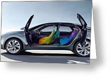 Citroen Hypnos Interior Greeting Card
