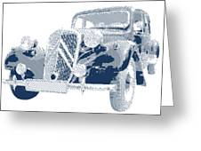 Citroen Traction Avant  - Parallel Hatching Greeting Card