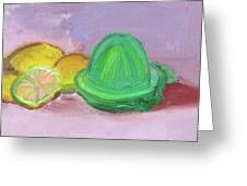 Citrus Squeezer Greeting Card