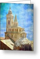 Citta Alta From Above Greeting Card by Jeff Kolker