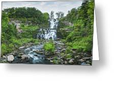 Cittenango Falls Tilt Shift Panorama  Greeting Card