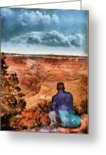 City - Arizona - Grand Canyon - The Vista Greeting Card