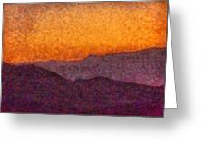 City - Arizona - Rolling Hills Greeting Card