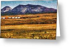City - Arizona - Southwestern Cargo Train Greeting Card