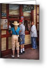 City - Lancaster Pa - The Train Station Greeting Card