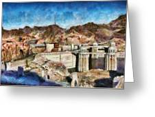 City - Nevada - Hoover Dam Greeting Card