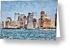 City - Ny - Manhattan Greeting Card