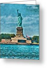 City - Ny - The Statue Of Liberty Greeting Card