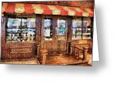 City - Ny 77 Water Street - Candy Store Greeting Card