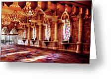City - Vegas - Excalibur - In The Great Hall  Greeting Card