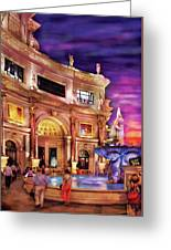 City - Vegas - Mirage - The Entrance Greeting Card