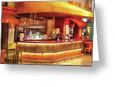 City - Vegas - Ny - The City Bar Greeting Card
