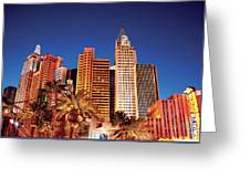 City - Vegas - Ny - The New York Hotel Greeting Card
