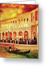 City - Vegas - Venetian - Life At The Palazzo Greeting Card
