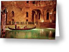 City - Vegas - Venetian - The Gondola's Of Venice Greeting Card