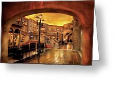 City - Vegas - Venetian - The Streets Of Venice Greeting Card