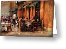 City - Venetian - Dining At The Palazzo Greeting Card